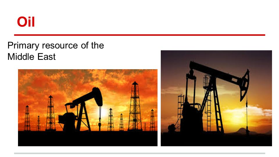 Oil Primary resource of the Middle East Climate