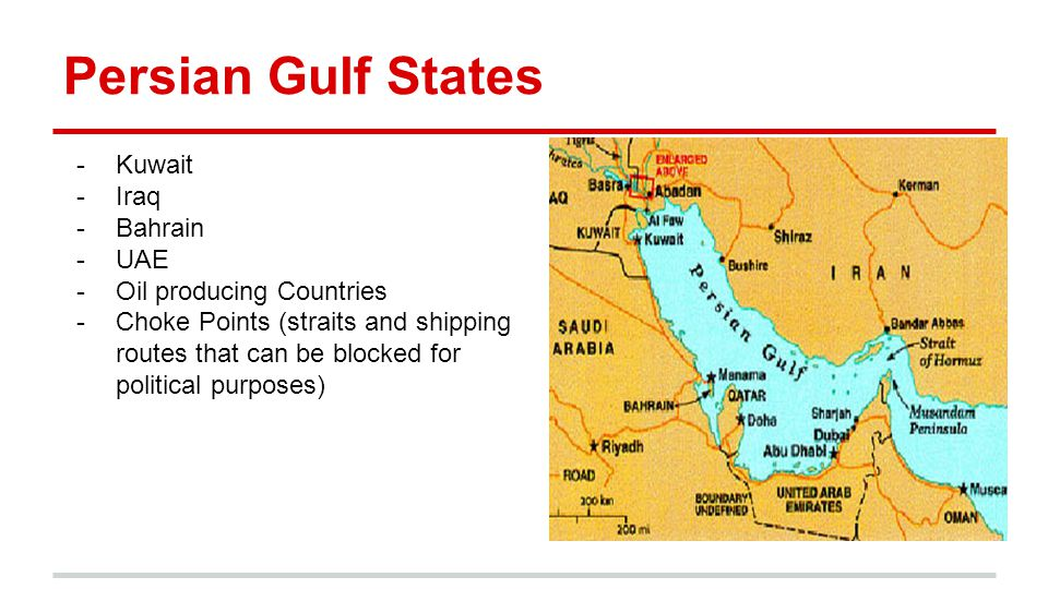 Persian Gulf States Kuwait Iraq Bahrain UAE Oil producing Countries