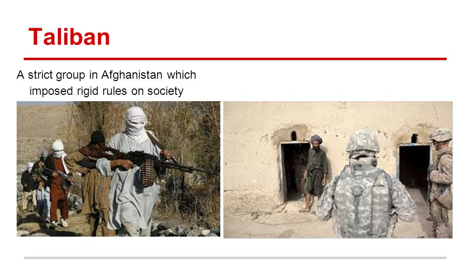 A strict group in Afghanistan which imposed rigid rules on society
