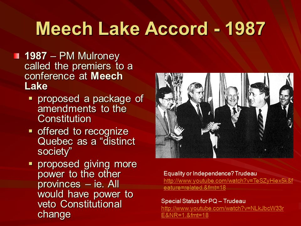 quebec distinct society In the last seventy years, quebec has changed from a society dominated by the   in canada-quebec relations: the case of quebec's distinct society 609.