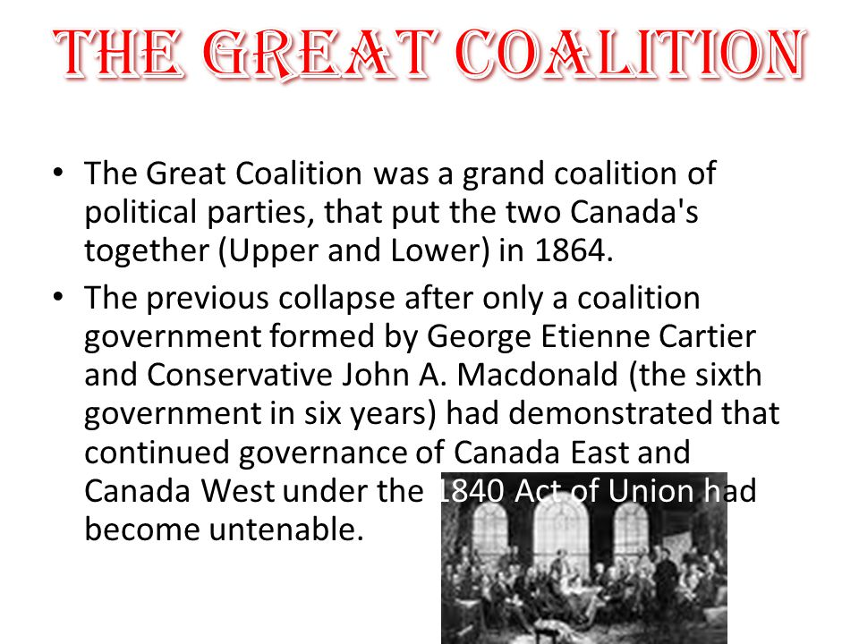the coalition government in canada The strengths and weaknesses of coalition government politics essay coalition government is actually less democratic as the coalition between an anchor party.