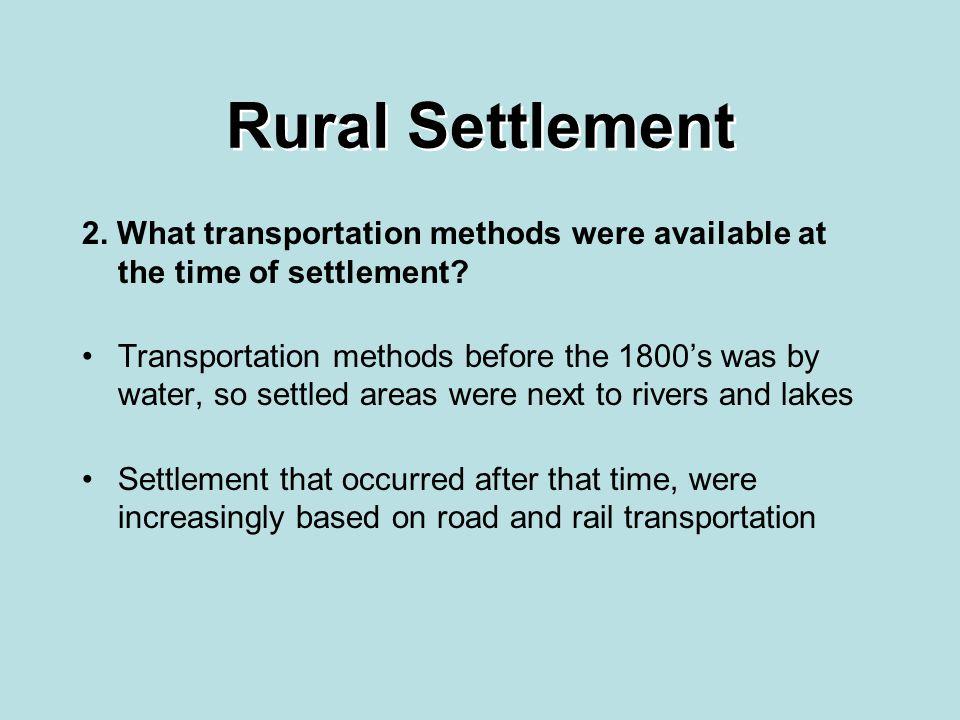 Rural Settlement Patterns Ppt Video Online Download