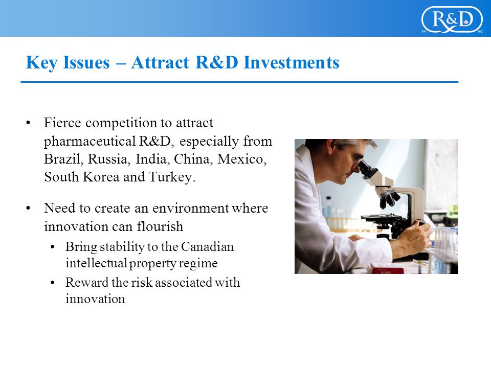 Key Issues – Attract R&D Investments