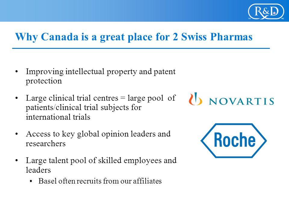 Why Canada is a great place for 2 Swiss Pharmas