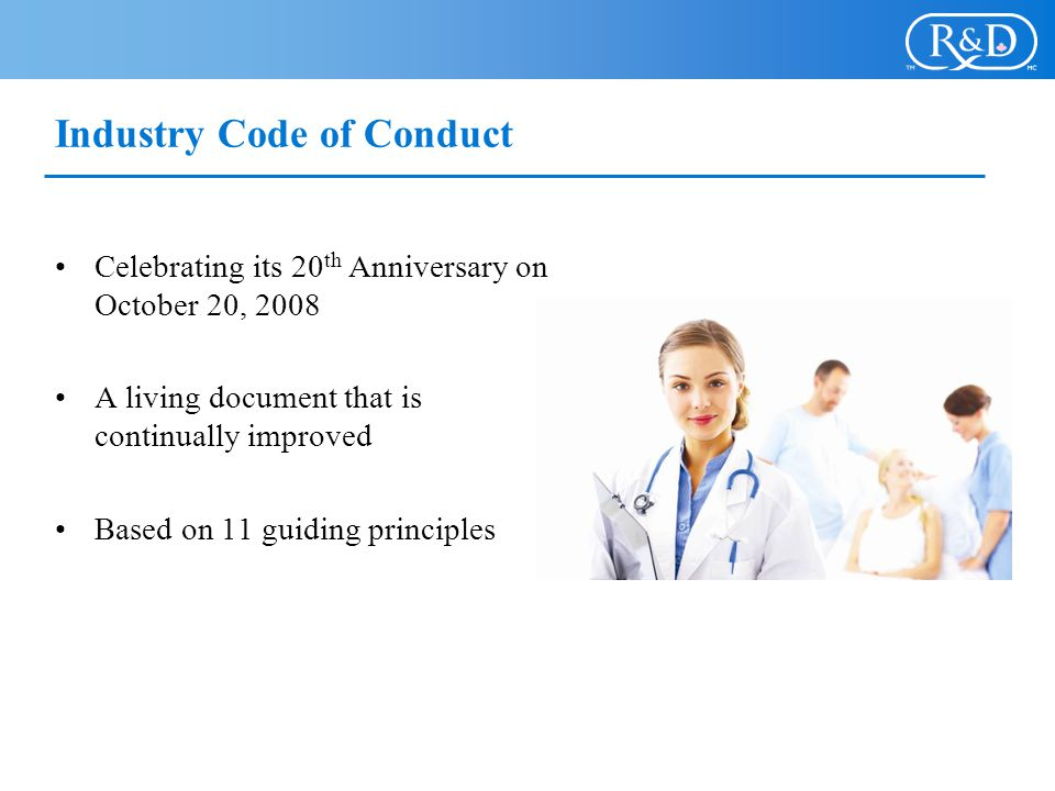 Industry Code of Conduct