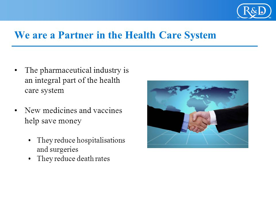 We are a Partner in the Health Care System