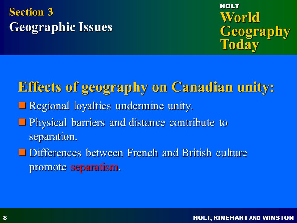 a history of the canadian national unity Start studying ap us history learn states that reflected a sense of national purpose and a desire for unity among territory-canadian border along.