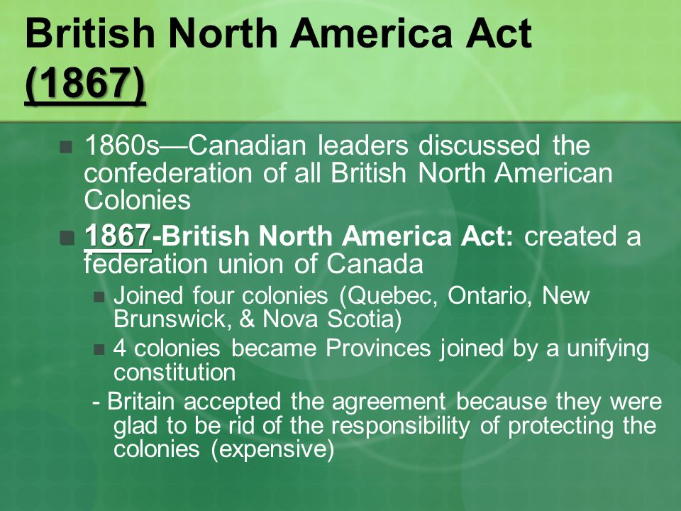 British North America Act (1867)