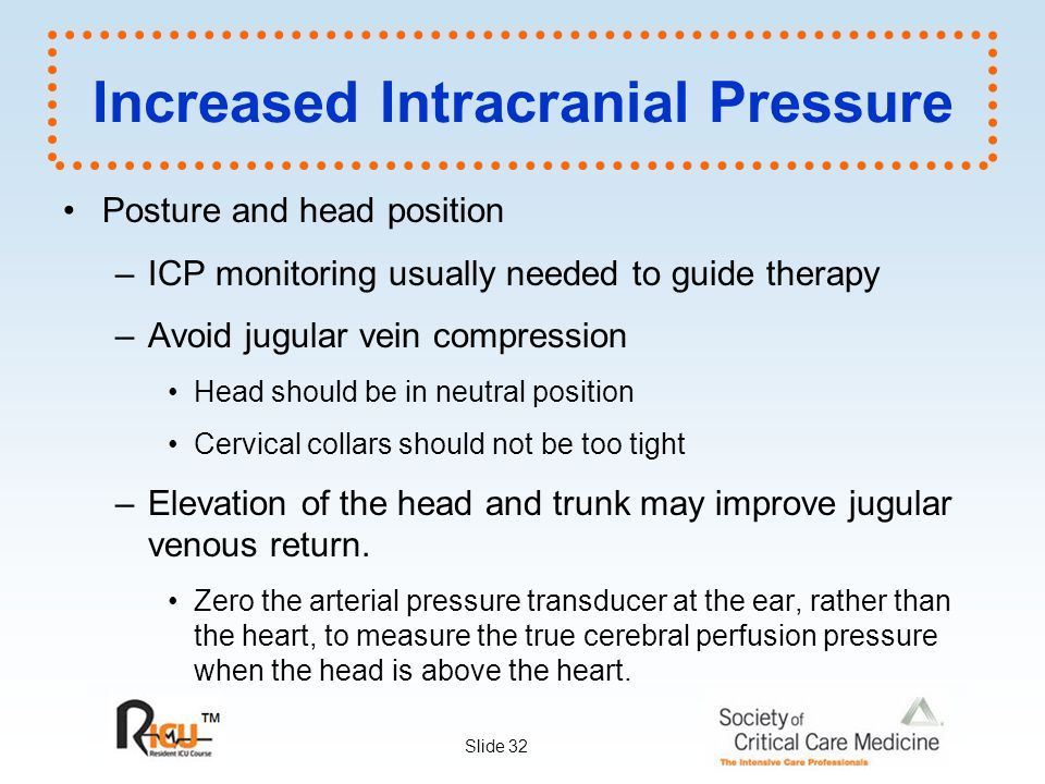 how to avoid intracranial pressure
