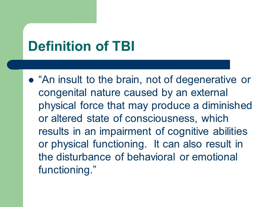 Definition of TBI