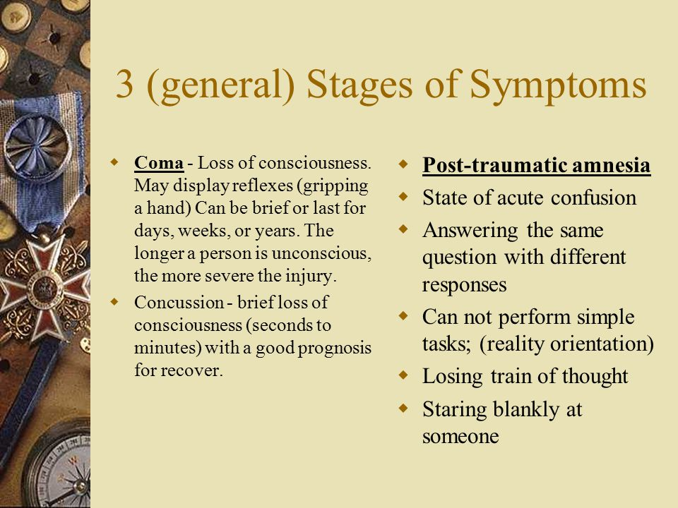 3 (general) Stages of Symptoms