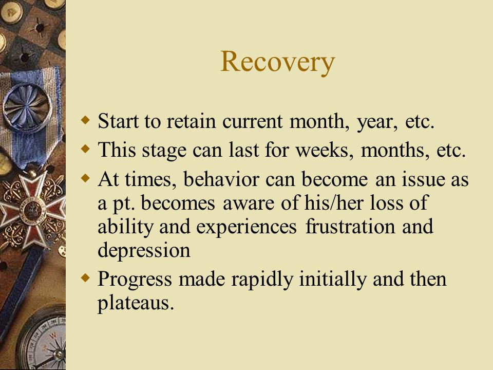 Recovery Start to retain current month, year, etc.