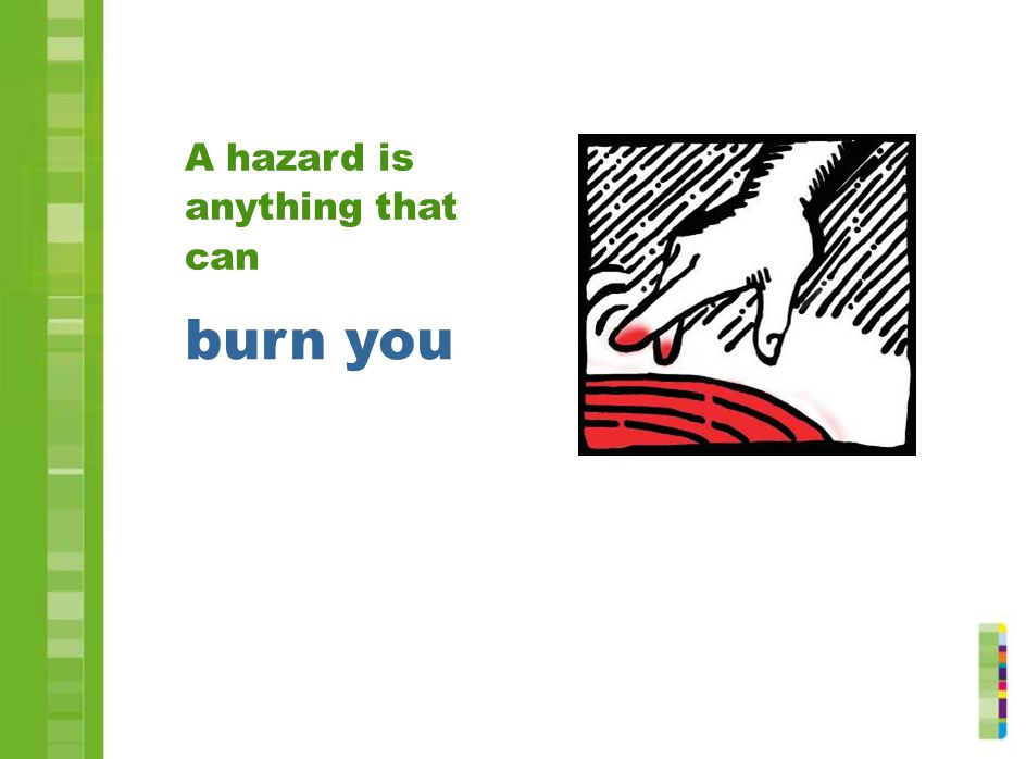 burn you A hazard is anything that can