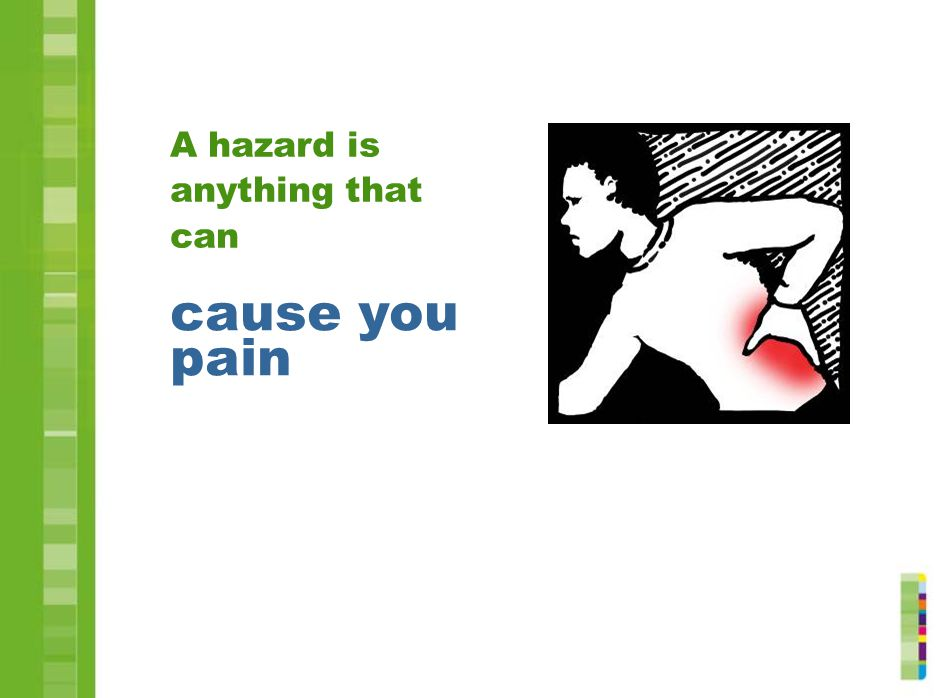 A hazard is anything that can