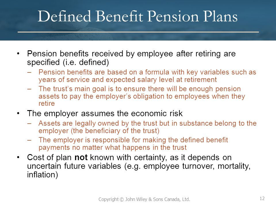 Defined Benefit Pension Plans