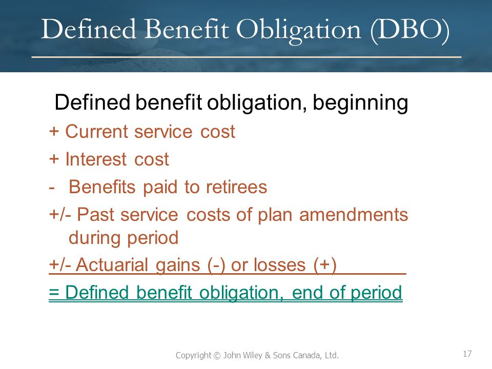Defined Benefit Obligation (DBO)