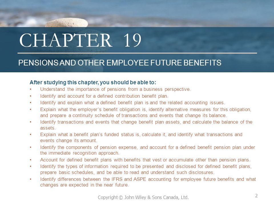 19 PENSIONS AND OTHER EMPLOYEE FUTURE BENEFITS