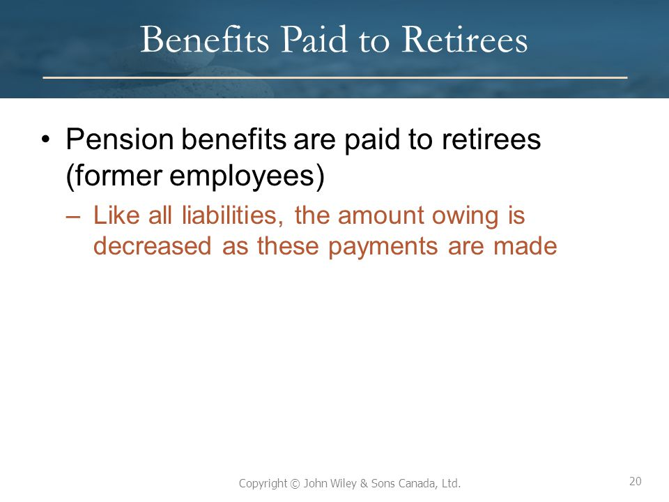 Benefits Paid to Retirees
