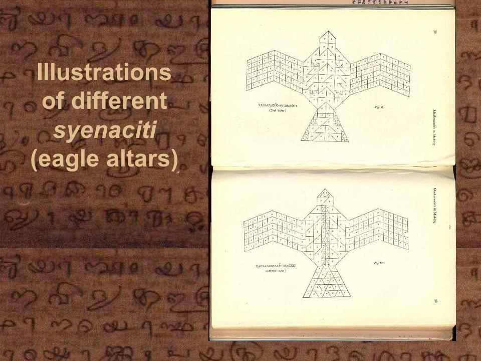 Illustrations of different syenaciti (eagle altars)