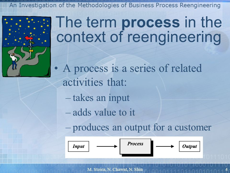The term process in the context of reengineering