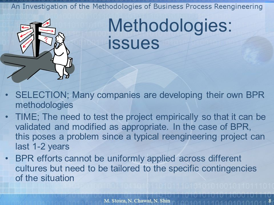 Methodologies: issues