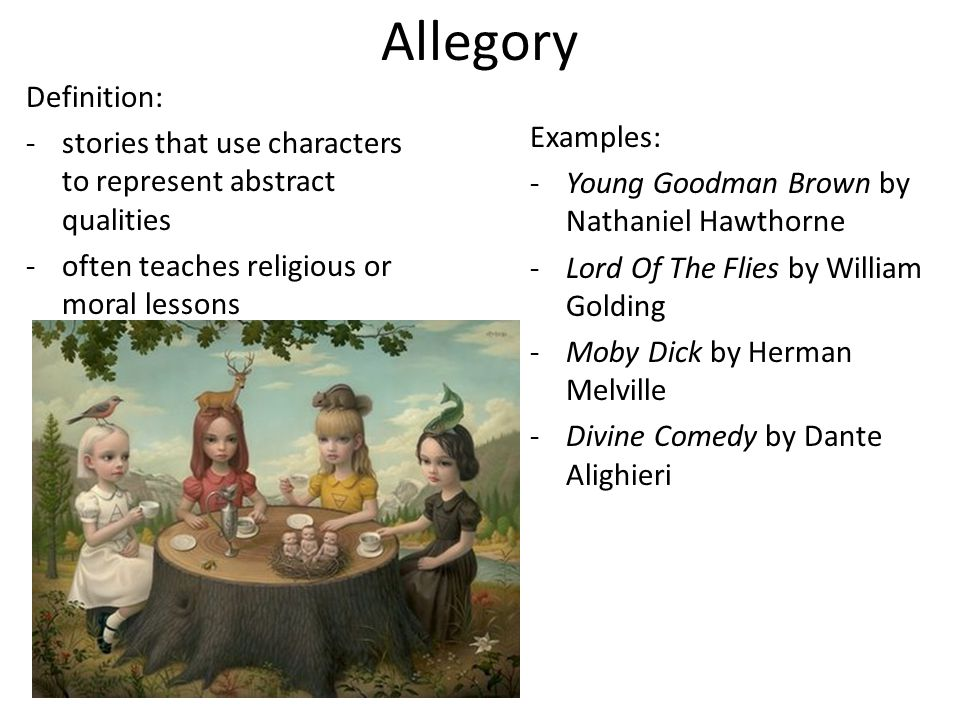 allegory literature definition