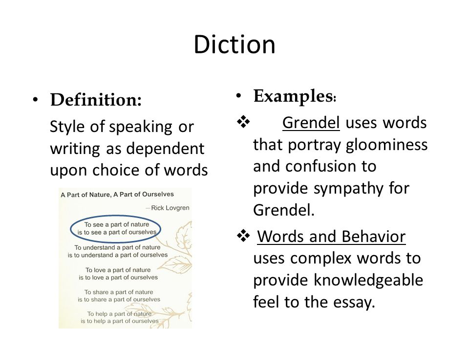 What Are Examples of Formal and Informal Diction?