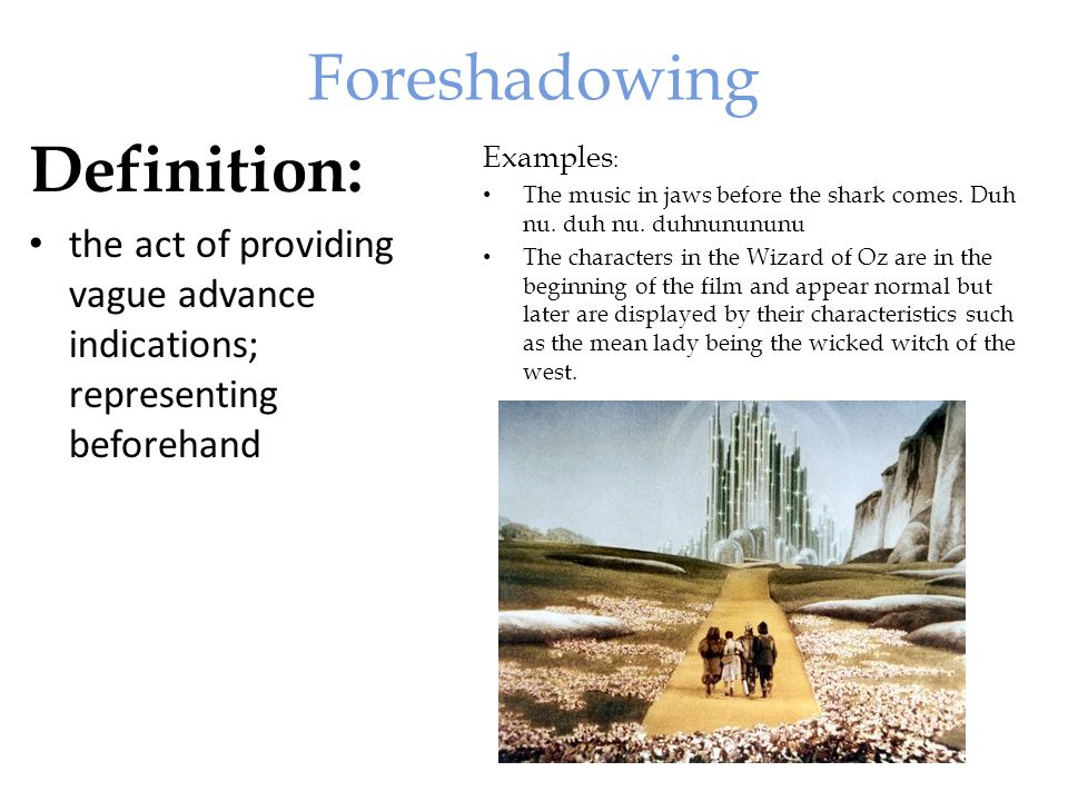 Foreshadowing Examples In Literature | www.imgkid.com ...