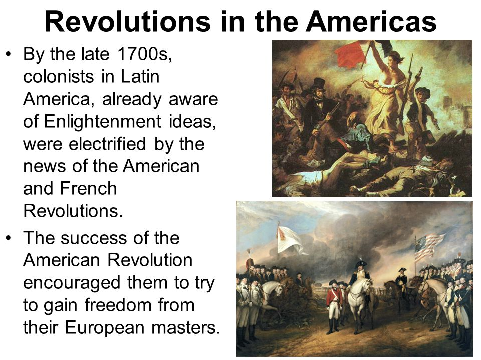 enlightenment in latin america This lesson will explore the 19th century latin american revolutions in doing so,  it  the roots of the enlightenment  thus, revolution came to latin america.