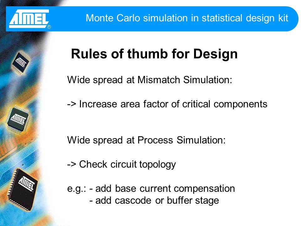 Monte carlo simulation in statistical design kit ppt