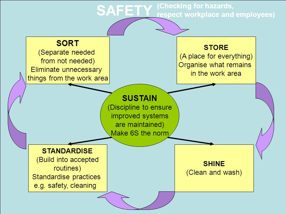 SAFETY SORT SUSTAIN (Checking for hazards,