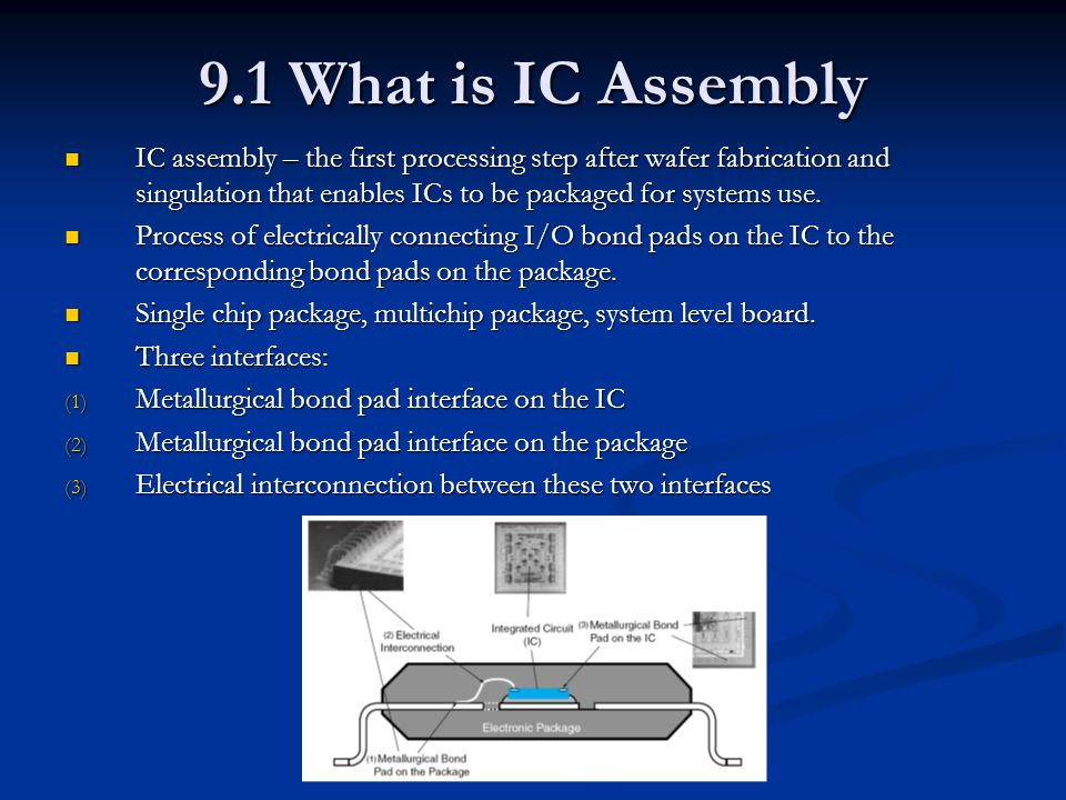9.1 What is IC Assembly