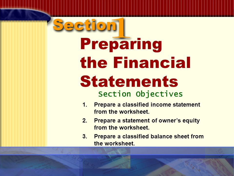 GLENCOE McGrawHill ppt download – Financial Statement Worksheet