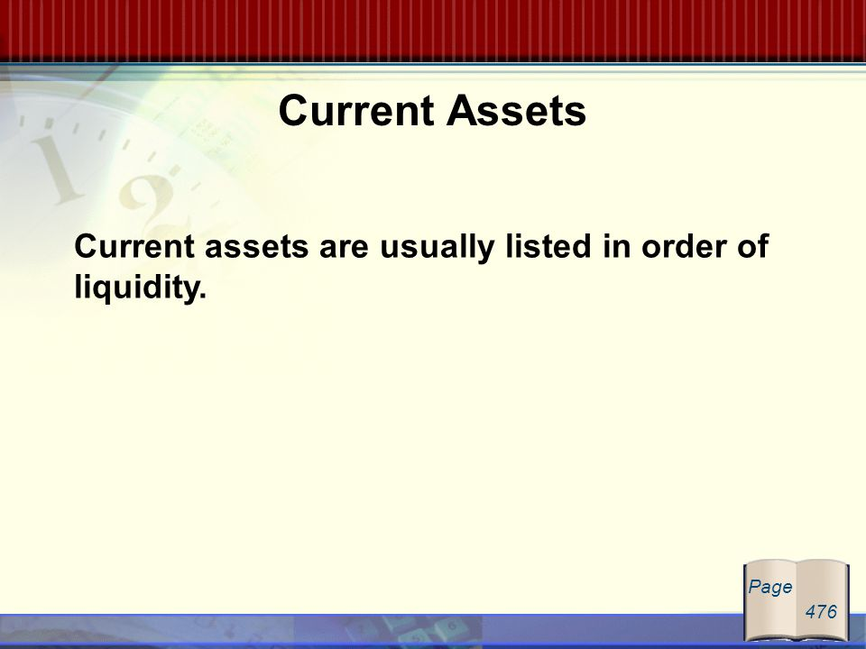 current and non current assets order liquidity And noncurrent assets and current and noncurrent liabilities, each as a separate classification in the company's statement of financial position (iasb, 2011) under ias 1 in paragraphs 63 and.