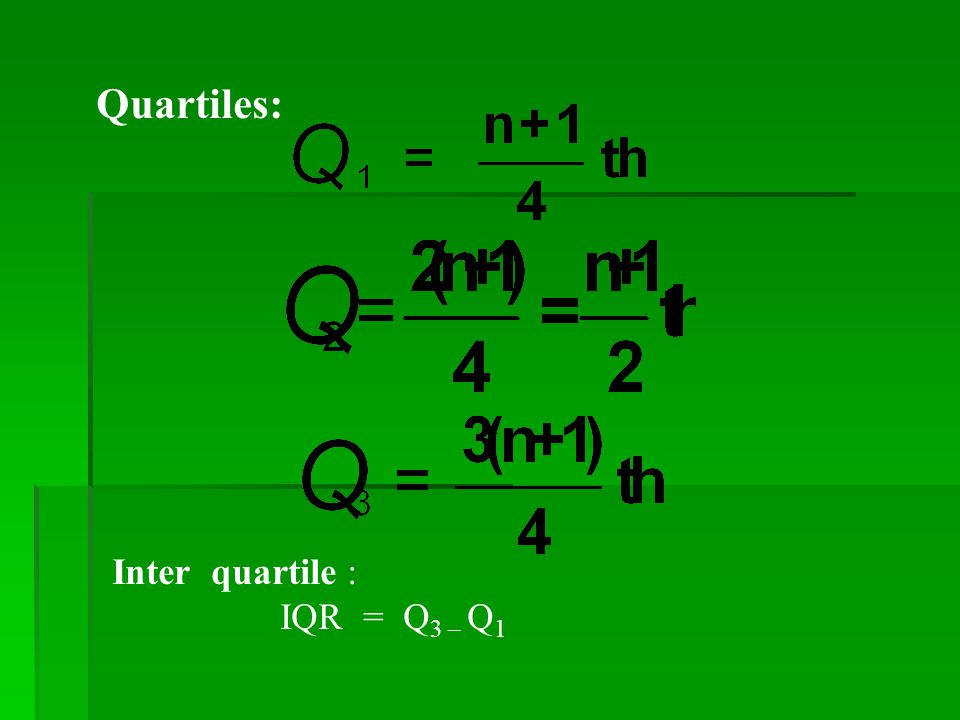how to find q3 and q1