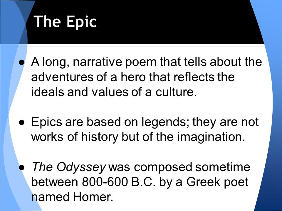 An analysis of western culture in the poems of homer