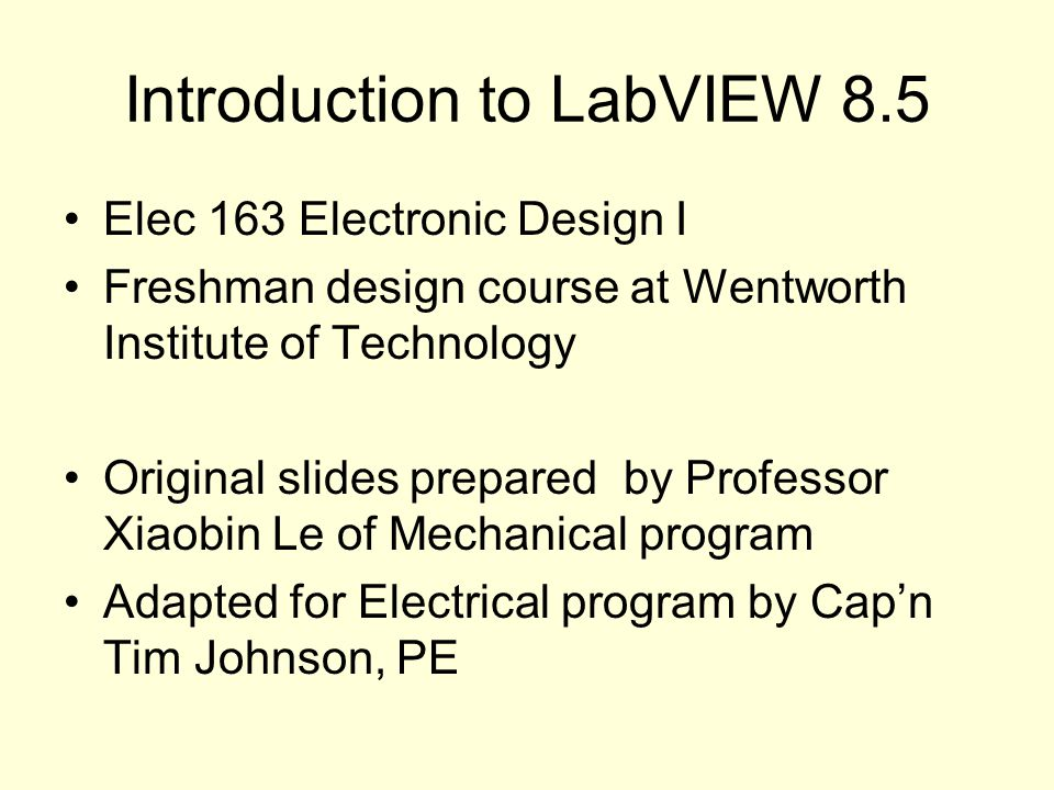 labview basics i introduction course manual