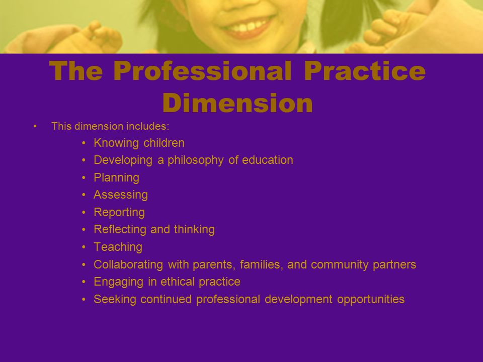 The Professional Practice Dimension