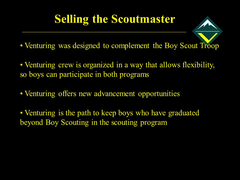Selling the Scoutmaster