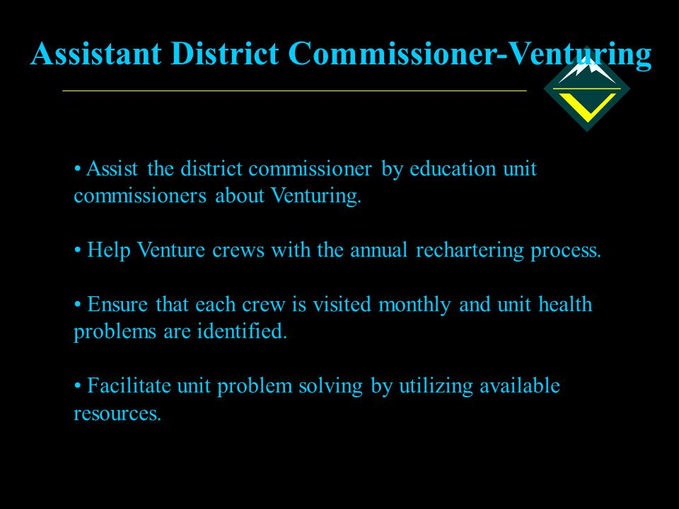 Assistant District Commissioner-Venturing