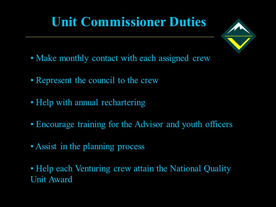 Unit Commissioner Duties