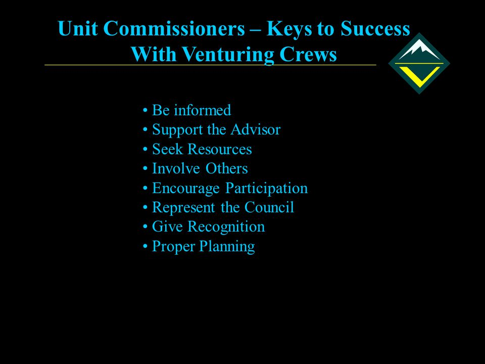 Unit Commissioners – Keys to Success