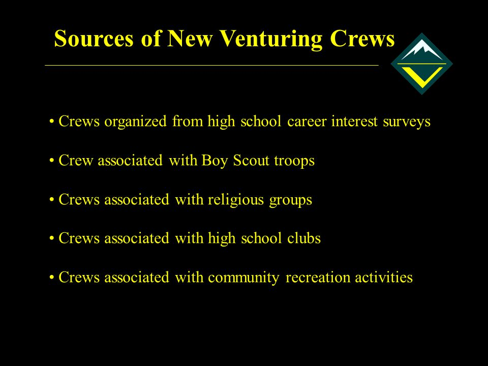 Sources of New Venturing Crews