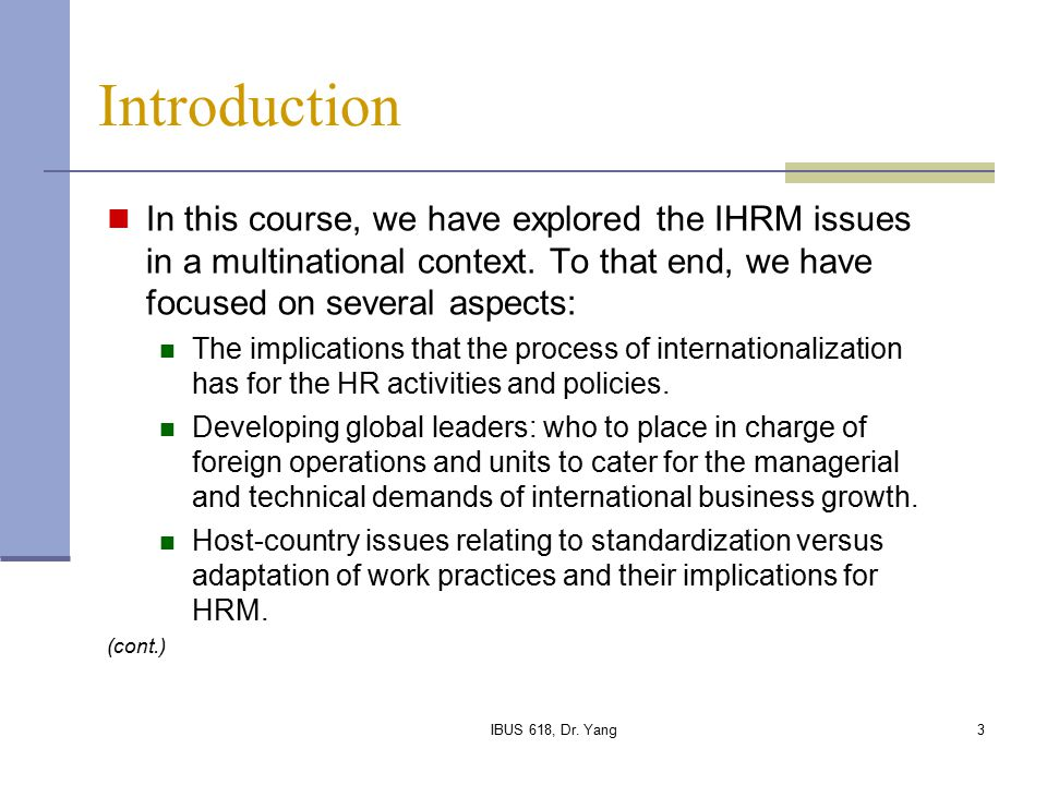 challenges of ihrm Using both qualitative and quantitative research approaches, the authors  address trends, practices and challenges of international hrm in several  countries,.