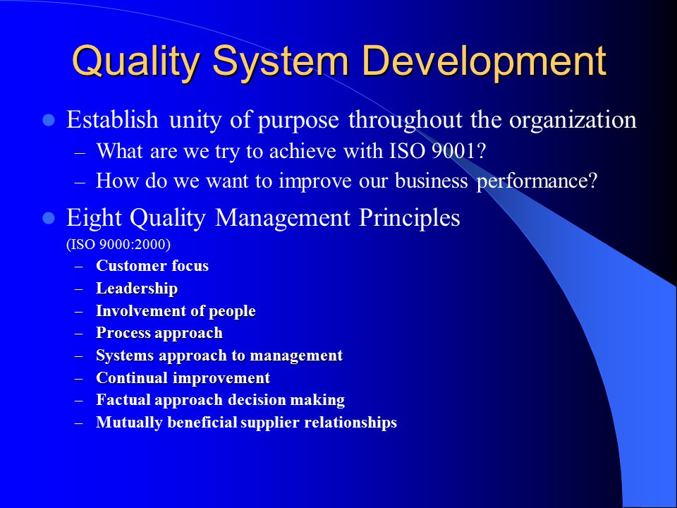 Preparing For Quality System Certification Ppt Download