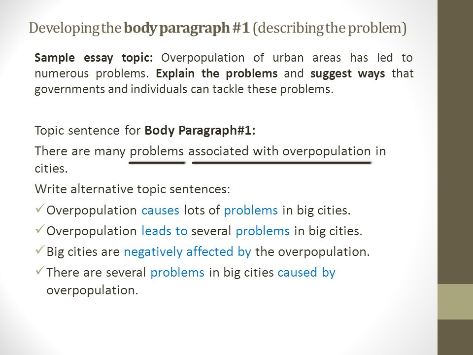 overpopulation of urban areas has led to numerous problems essay