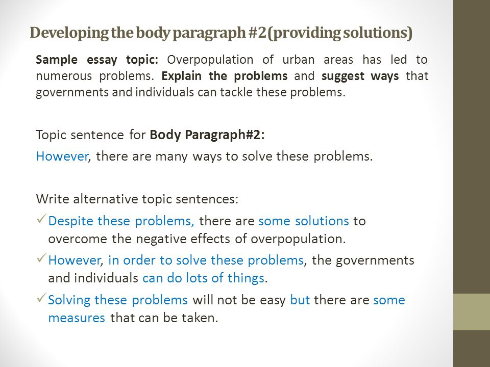 problem solution essay ppt video online  20 developing
