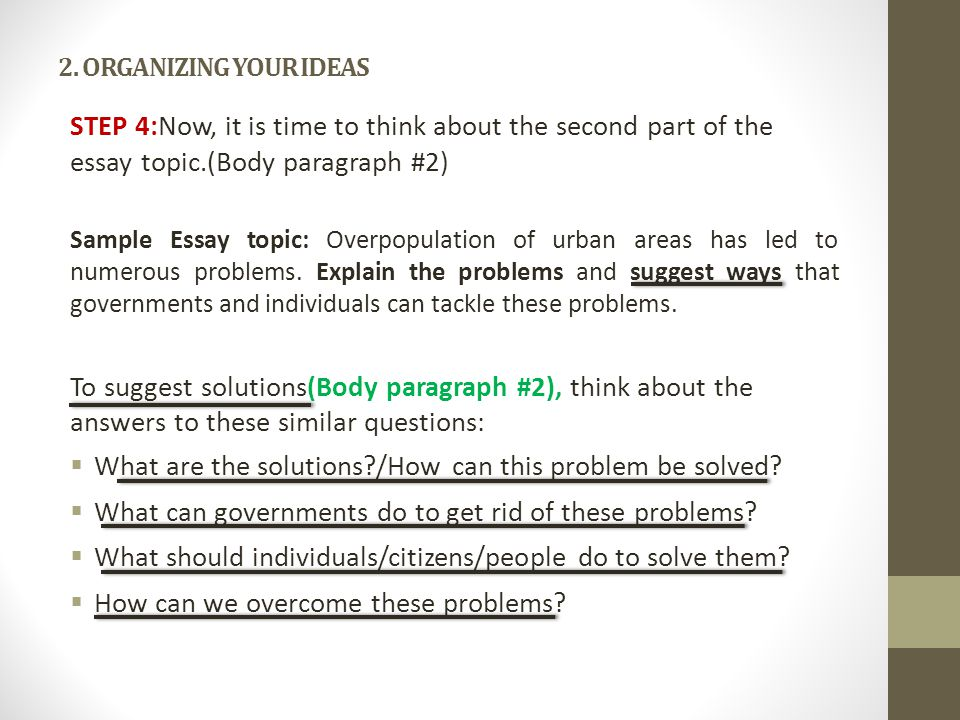 problem solution essay ppt video online  8 what
