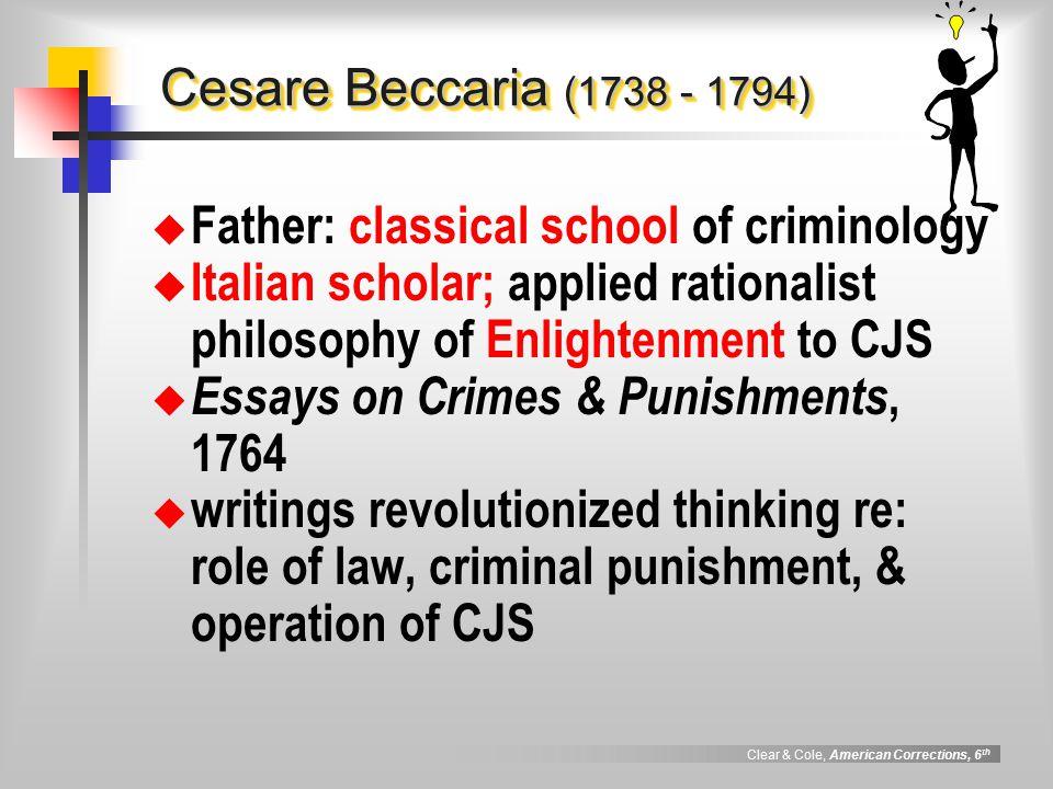 Cesare beccaria on crimes and punishments essay