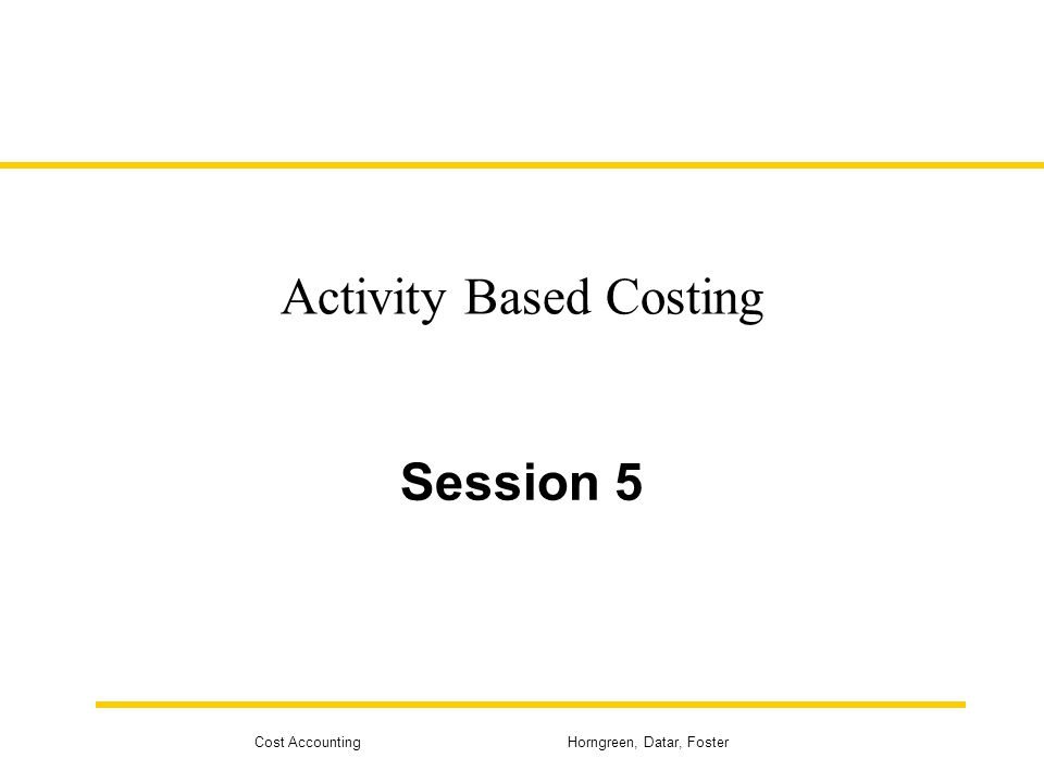 an introduction to activity based costing Chapter 4-3 study objectives 1 recognize the difference between traditional costing and activity-based costing 2 identify the steps in the development of an activity-based.